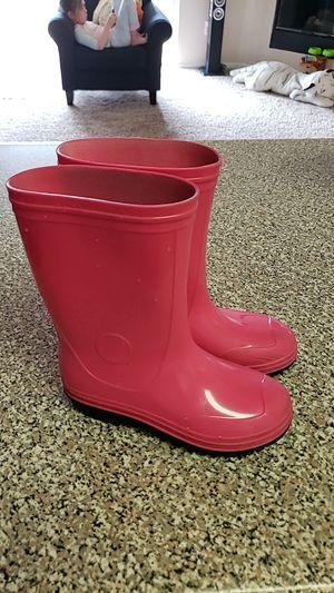 Kids Girls Rain Garden Rubber Boots size 1 for Sale in Northglenn, CO