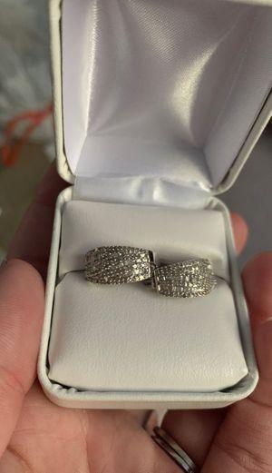 1 carat diamond earrings sterling silver for Sale in Plainfield, IL