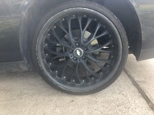 Black 22' rims for challenger charger or Camaro for Sale in Richmond, TX