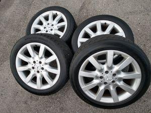 "18"" Mercedes Benz S550 rims wheels tires for Sale in Boca Raton, FL"