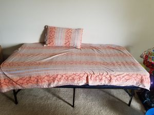 Twin size signature coil matress and bed frame for Sale in Lafayette, LA