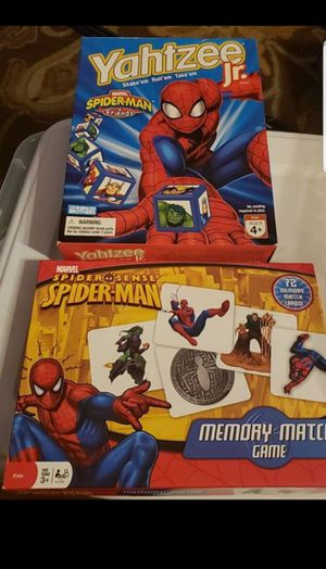 Yahtzee jr and memory gamw spiderman edition for Sale in Federal Way, WA