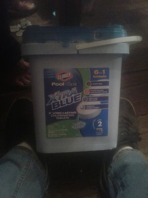 Xtra blue chlorine granules for pool (12 lbs) for Sale in Oklahoma City, OK