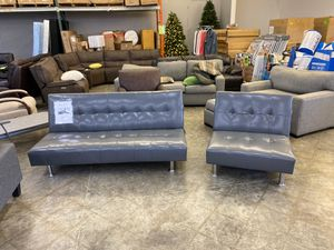 Gray leather futon for Sale in Chino Hills, CA