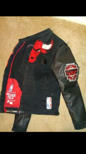 Medium Leather and jean jacket for Sale in Washington, DC