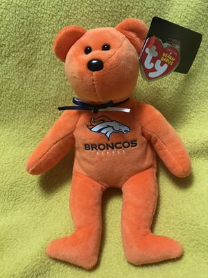 Denver Broncos TY Beanie Baby Bear for Sale in Sioux Falls, SD