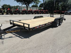 10k 10,000 lb Equipment trailer flatbed open car hauler skid steer mini excavator tractor for Sale in Brandon, FL
