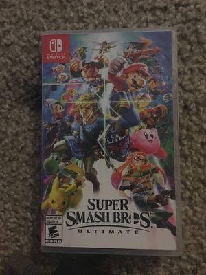 Super Smash bros. Ultimate Nintendo switch for Sale in Atlanta, GA