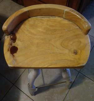Rustic style wood stool for Sale in Fresno, CA
