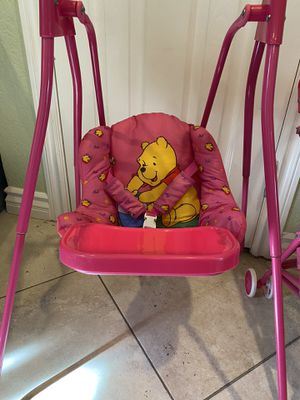 Disney Winnie the Pooh Doll Play Set w/Stroller & Swing for Sale in Mission Viejo, CA