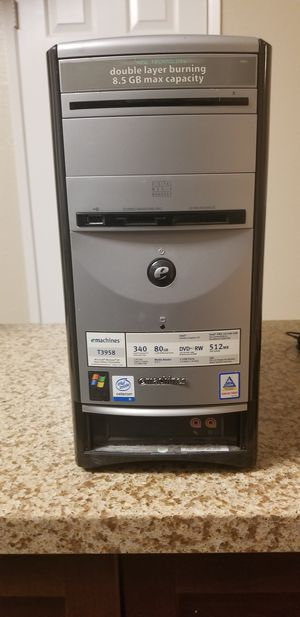 Computer emachines T3958 for Sale in Jurupa Valley, CA