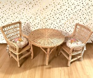 American Girl Doll • Wicker Table & Chairs for Sale in Yorba Linda, CA
