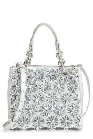Michael Kors Flora Burst Satchel North South Silver Satchel Handbag for Sale in Norfolk, VA