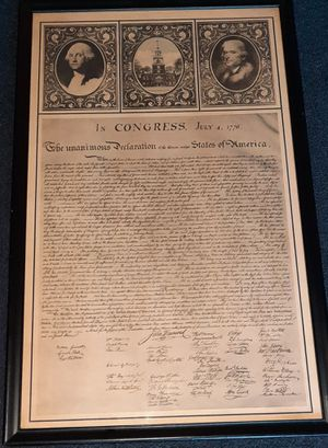 Declaration of Independence Framed Print for Sale in Damascus, MD