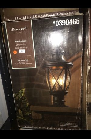 Outdoor post lantern for Sale in Rochester, NY
