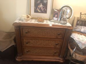 Antique bamboo cabinet for Sale in Hollywood, FL