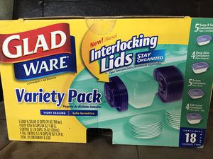 Glad Ware 18 pcs Variety Pack Tight Sealing Containers for Sale in Los Angeles, CA