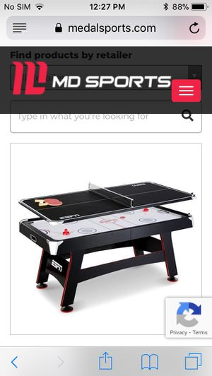 """Brand New Still in Box ESPN 72"""" Air Powered Hockey Table with Table Tennis Conversión Top for Sale in Los Angeles, CA"""