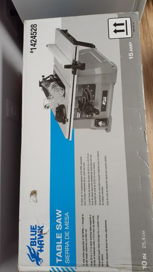 Blue hawk table saw Sierra de Mesa new for Sale in Santa Fe Springs, CA