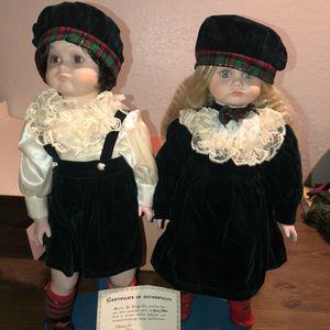Marian Yu Christmas Twin Porcelain Dolls for Sale in Orlando, FL