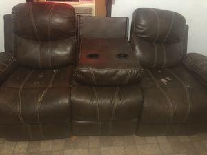 Sala de. piel usada for Sale in Spring, TX