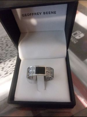 14K white Gold Filled over sterling silver Sapphire Ring Size 10 for Sale in Jacksonville, FL