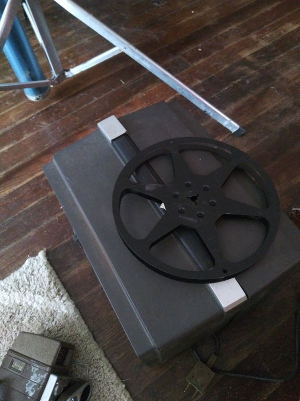 Bell and Howell 8mm camera projector and screen collection