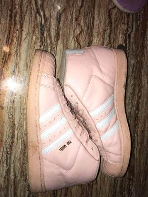 Pink shell toe high top adidas for Sale in Buffalo, NY
