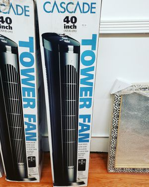 Cascade 40 inch tower fan with remote control for Sale in Huntington Park, CA