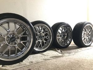 """18"""" Chrome BBS Wheel Set W/ Tires for Sale in Portland, OR"""