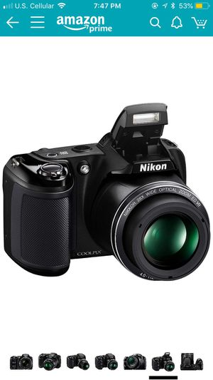 Nikon Coolpix L340 20.2 MP Digital Camera with 28X Optical Zoom and 3.0-inch LCD for Sale in Grandview, WA