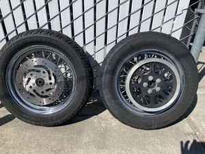 Harley spoke wheels and tires for Sale in Livermore, CA