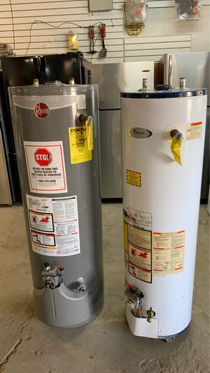 Nice used gas water heater 30 and 40 galon 2 month warranty cahs only 240$ each 507 Ming Ave my address for Sale in Bakersfield, CA