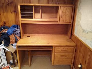 Two Piece Wooden Computer Desk for Sale in Weymouth, MA