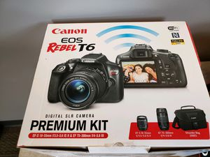 Canon EOS Rebel T6 Premium Kit for Sale in Seattle, WA