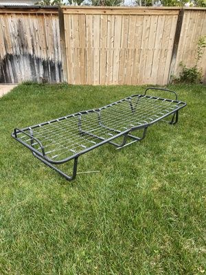 Selling a twin size folding bed frame no mattress for Sale in Corona, CA