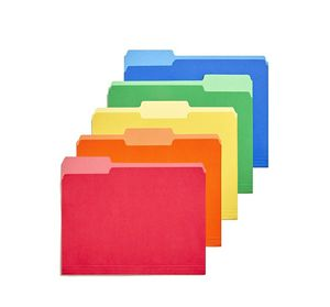 TRU RED Heavyweight File Folders, 1/3 Cut Tab, Letter Size, Assorted Colors, 50/Box for Sale in Hamburg, NY