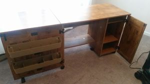 Large Sewing Desk with storage bins shelves 189.00 retail for Sale in Frederica, DE