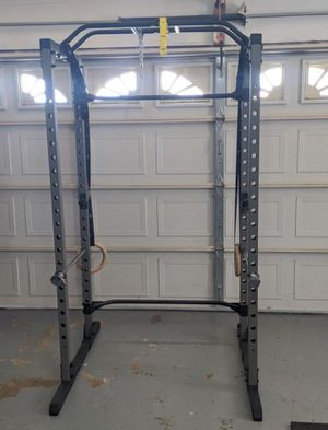 Full cage squat rack (with safety bars, pull up bar, and jHooks) for Sale in Westminster, CA