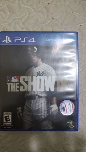 MLB the Show 18 PS4 for Sale in Chicago, IL