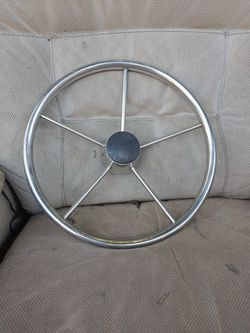 Stainless Steel Boat Steering Wheel 5/8-in Shaft for Sale in Torrance,  CA