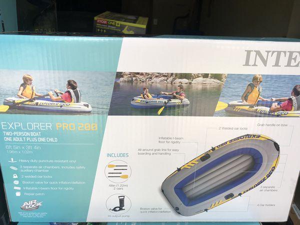 Intex explorer pro 200 inflatable boat NEW