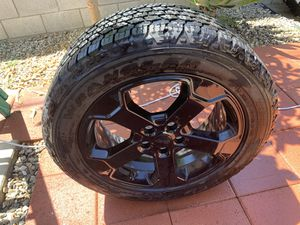 Jeep Wheel 20 inch Rim Tire 265 50 20 Tire is brand new Rim is brand new Comes with Sensor Center cap 1 only Goodyear good year brand Wrangler A for Sale in Norwalk, CA