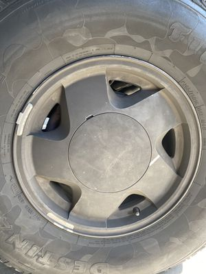 "4 OEM wheels Chevy rims 16"" with tires for Sale in Seal Beach, CA"