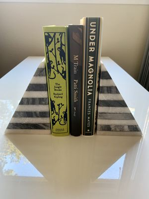 West Elm Black & White Striped Marble Bookends for Sale in San Mateo, CA