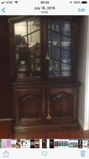 Antique china cabinet with lights for Sale in Clearwater, FL