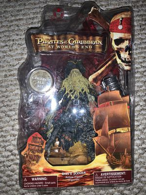 Pirates of the Caribbean: At worlds end; Davy Jones action figure, Disney for Sale in Woburn, MA