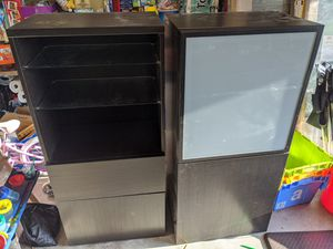 Black wooden shelving units (2) for Sale in Issaquah, WA