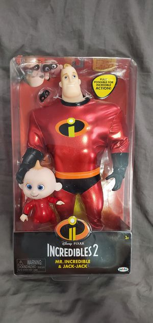 Disney/Pixar Incredibles 2 Mr. Incredible & Jack-Jack Collectible Figurine Set for Sale in Revere, MA
