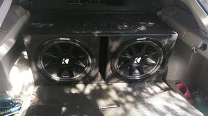 2 15 subs kicker with 5000 planet audio amp in pro box for Sale in Houston, TX